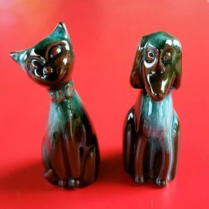 """Blue Mountain Pottery Accents - Vintage Blue Mountain Mini Cat and Dog 3"""""""